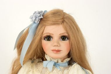 Jole' Blon - collectible limited edition porcelain soft body art doll by doll artist Janet Ness.