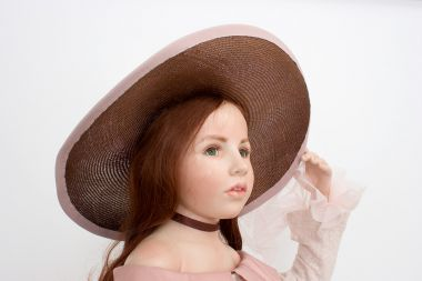 Collectible Limited Edition Wax over porcelain doll Justine by Hildegard Gunzel
