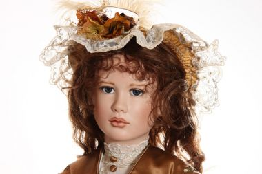 Angela Barker collectible porcelain art doll Dominique