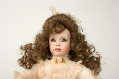 Rosebud - collectible limited edition porcelain art doll by doll artist Patricia Rose.