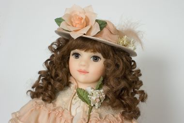 Beatrice - collectible limited edition wax soft body art doll by doll artist Brenda Burke.