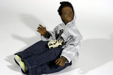 Street Kid no.13 - collectible one of a kind finished porcelain art doll by doll artist Uta Brauser.