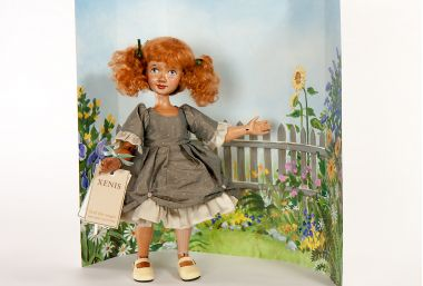 Main image of Mary Mary Quite Contrary wood art doll by Marlene Xenis
