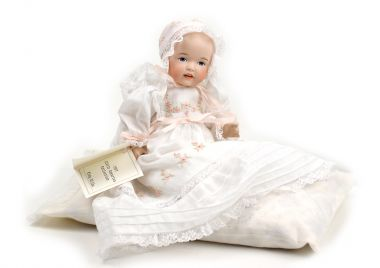 Tiny Hilda - limited edition porcelain collectible doll  by doll artist Wendy Lawton.