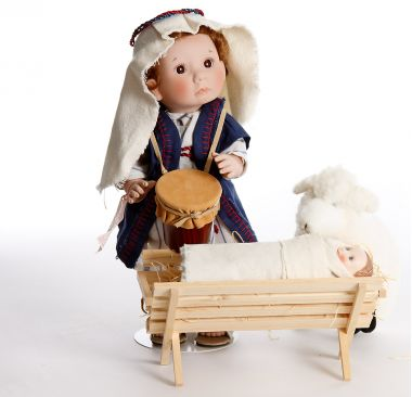 Christmas Angel Drummer Boy - limited edition vinyl collectible doll  by doll artist Lee Middleton.