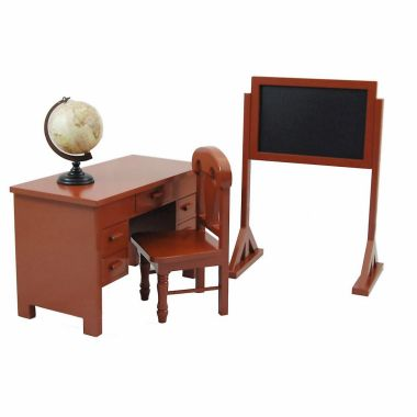 """School Teacher desk and plat set furniture doll clothes and accessories for 18"""" dolls like American Girl¬ Madame Alexander¬."""