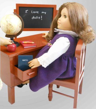 School Teacher Desk Set for American Girl Doll