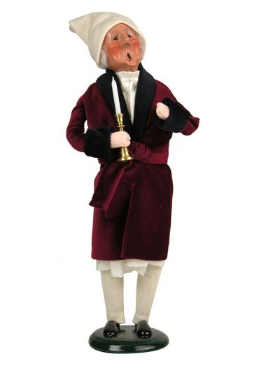 Scrooge - collectible limited edition mixed media caroler figurine by Byers' Choice, Ltd.