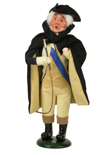 George Washington - collectible limited edition mixed media caroler figurine by Byers' Choice, Ltd.