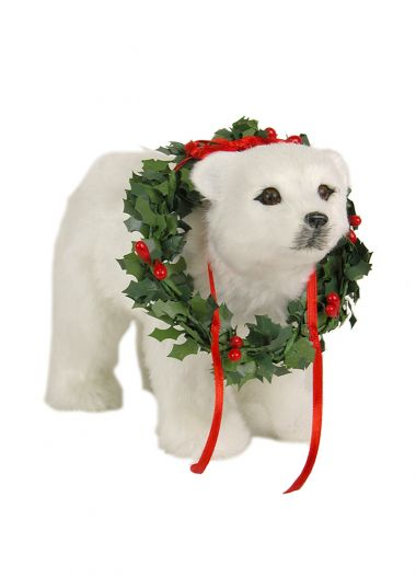Polar Bear Cub - collectible limited edition figurine by Byers' Choice, Ltd.