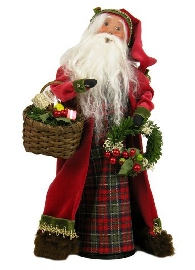 English Countryside Santa - collectible limited edition mixed media caroler figurine by Byers' Choice, Ltd.
