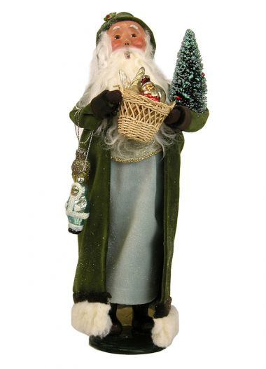 Vintage Sage Santa - collectible limited edition mixed media caroler figurine by Byers' Choice, Ltd.