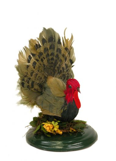 Turkey on Base - collectible limited edition mixed media caroler figurine by Byers' Choice, Ltd.