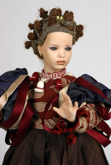 Ingrid - collectible one of a kind finished porcelain art doll by doll artist Uta Brauser.