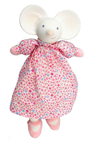 Image of Meiya the Mouse non-toxic natural rubber soft toy.