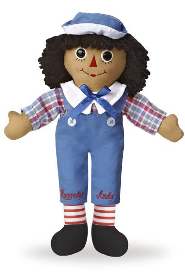 Photo of African American Raggedy Andy rag doll.