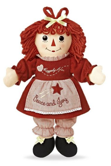 Photo of Raggedy Ann Peace and Joy Holiday rag doll by Aurora.