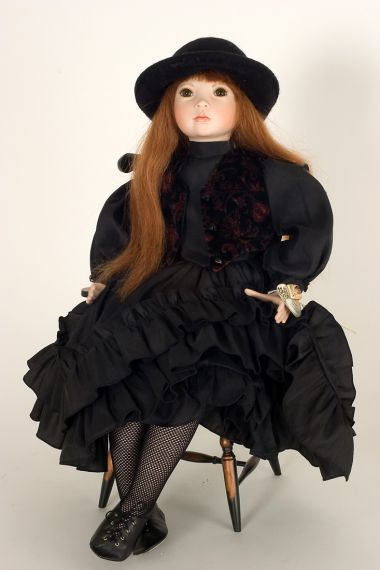 Collectible Limited Edition Porcelain soft body doll Carolyn by Linda Mason