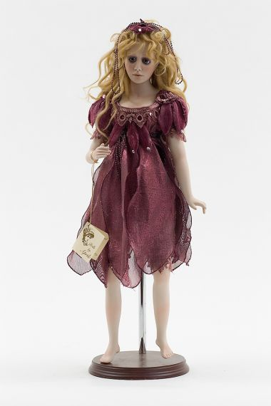 Collectible One of a Kind Porcelain soft body doll Fantasy Fairy Wine by Paulette Aprile