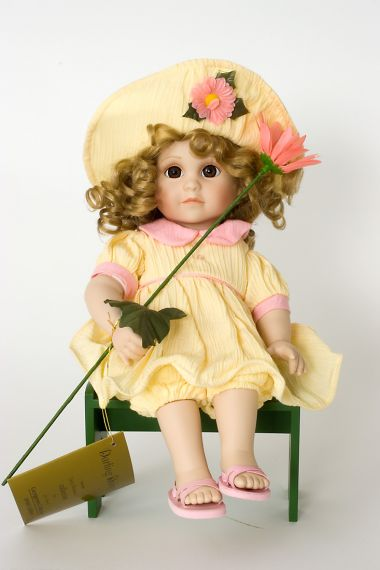 Collectible  Porcelain soft body doll Darling Daisy by Georgetown Collection