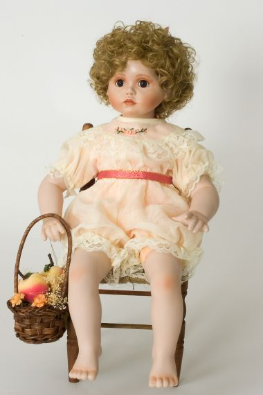 Collectible Limited Edition Porcelain soft body doll Peaches Cream by Ann Timmerman