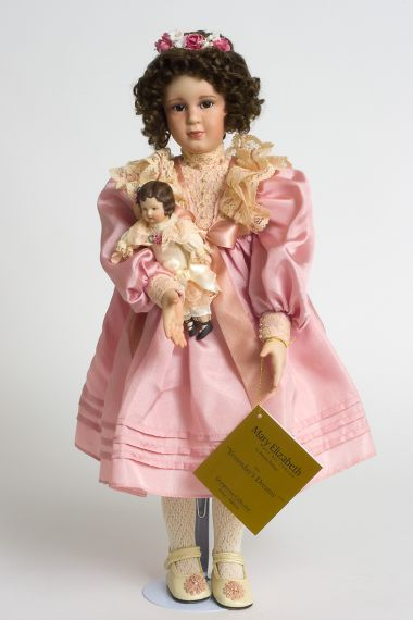 Collectible  Porcelain soft body doll Mary Elizabeth by Georgetown Collection