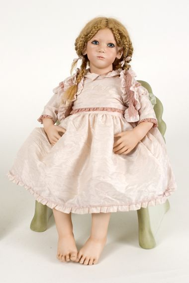 Collectible Limited Edition Porcelain doll Virpi by Annette HImstedt