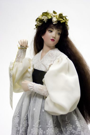 Collectible Limited Edition Porcelain soft body doll Gwendolyn by Monika Mechling