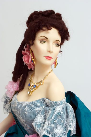 Scarlett Ashley's Party Dress - collectible limited edition wax art doll by doll artist Paul Crees and Peter Coe.