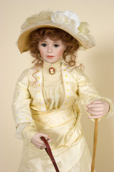 Beatrice - collectible one of a kind porcelain soft body art doll by doll artist Andrea Robbins.