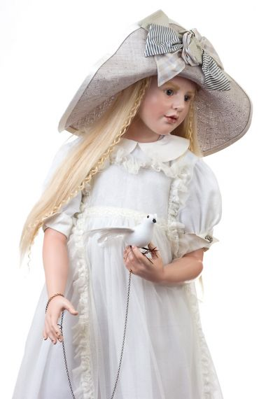 Collectible Artist's Proof Wax over Porcelain doll Isabella by Hildegard Gunzel