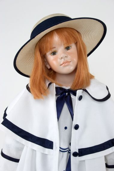 Collectible Limited Edition Wax over Porcelain doll Adelaide by Hildegard Gunzel
