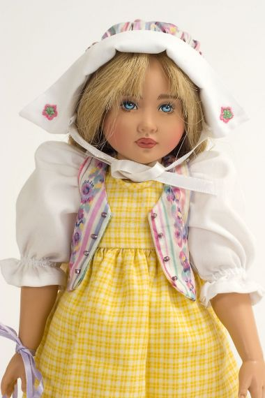Little Maid, Pretty Maid - limited edition vinyl collectible doll  by doll artist Helen Kish.