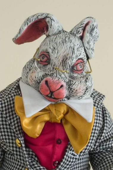 White Rabbit - limited edition resin collectible doll  by doll artist Faith Wick.