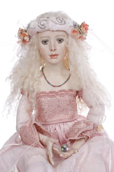 Collectible One of a Kind dressed Wax over Porcelain doll The Gift by Ardis Shanks