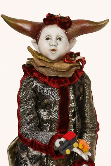 Collectible One of a Kind Porcelain doll Jut by Ankie Daanen