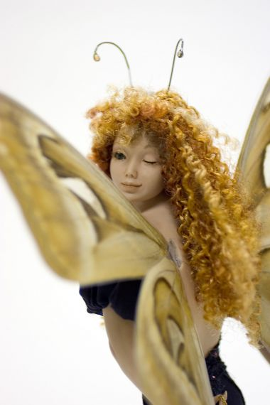 Valentine - collectible one of a kind porcelain art doll by doll artist Michelle Robison.