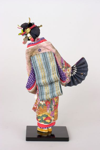 Nakamura washi doll - collectible one of a kind washi paper art doll by doll artist Jacques Dorier.