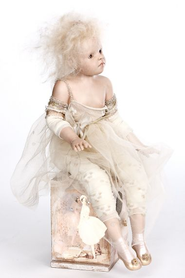 Sylphide - collectible one of a kind porcelain art doll by doll artist Gerda Schaarman-Rijsdijk.