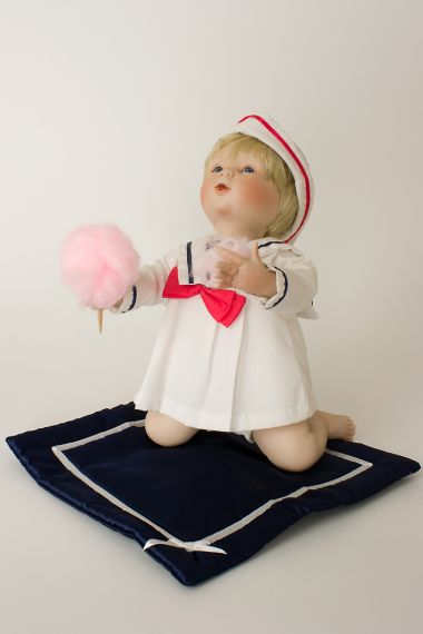Jill - limited edition porcelain soft body collectible doll  by doll artist Yolanda Bello.