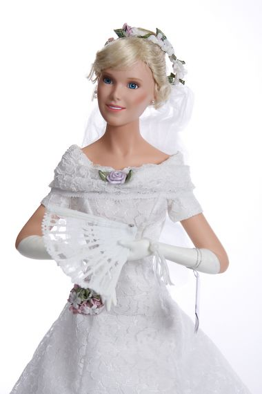 Florence Bride 96924 - limited edition porcelain soft body collectible doll  by doll artist Ashton-Drake.