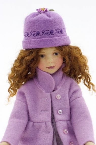 Taylor - collectible limited edition felt molded art doll by doll artist Maggie Iacono.