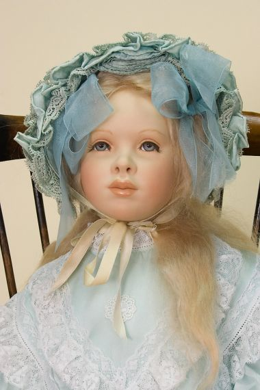 Collectible Limited Edition Porcelain soft body doll Sister D-14 by Cindy Koch