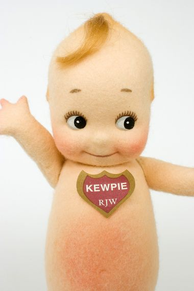 Klassic Kewpie - collectible limited edition felt molded art doll by doll artist R John Wright.