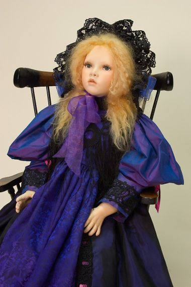 Collectible One of a Kind Porcelain soft body doll Teatime with Theresa by Cindy Kock
