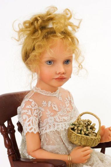 Paule no.2 - collectible limited edition resin art doll by doll artist Heloise.