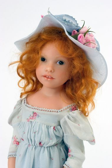 Valentine no.5 - collectible limited edition resin art doll by doll artist Heloise.