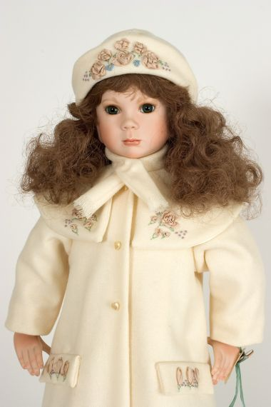 Collectible Limited Edition Porcelain soft body doll Stormy by Linda Mason