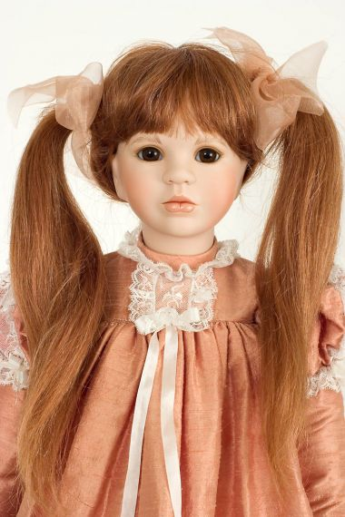 Collectible Limited Edition Porcelain soft body doll Tess by Linda Mason