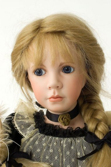 Collectible Limited Edition Porcelain soft body doll Heather by Linda Mason